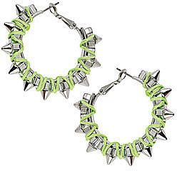 Spike thread wrap earrings