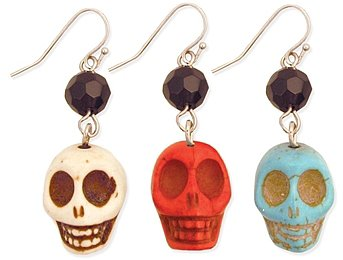 Stone Skull Earrings