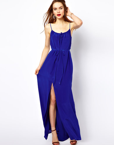 French Connection Silk Maxi Dress With Thigh Split