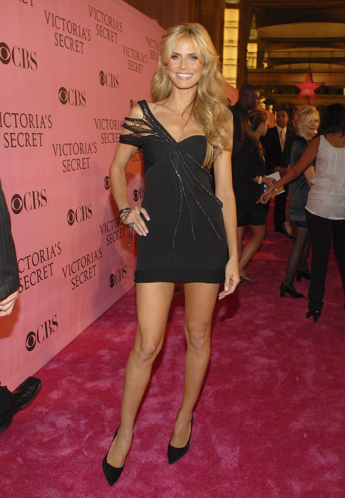 Heidi Klum in a One-Shoulder LBD at the 2007 Victoria's Secret Fashion Show