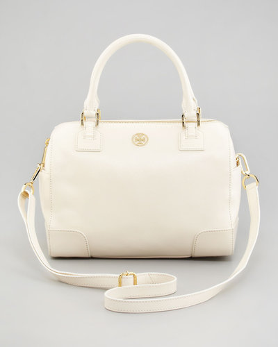 Tory Burch Robinson Middy Satchel Bag, Bleach White