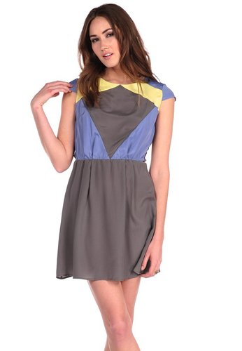 Costa Blanca Aline Colorblock Dress