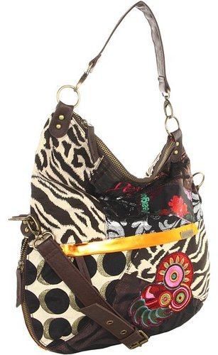 Desigual - Bols Bandolera Patch Night (Marron Kenya) - Bags and Luggage