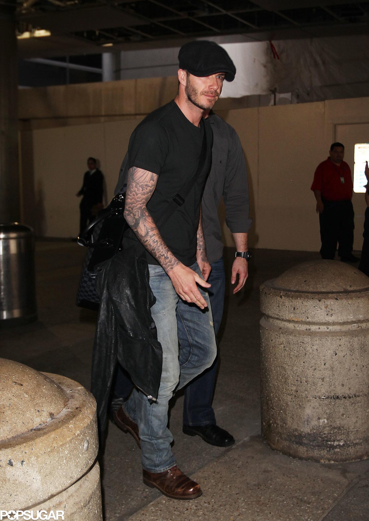David Beckham landed in LAX.