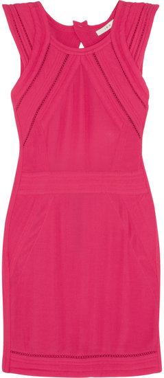 IRO Cutout neon crepe mini dress