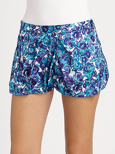 Thakoon Addition Watercolor Floral Bloomer Shorts