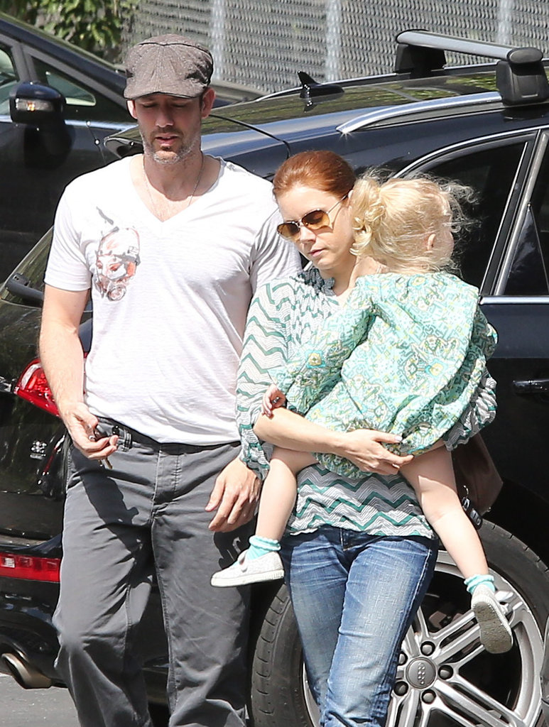 Amy Adams and Darren Le Gallo went to breakfast in LA on Friday with their daughter Aviana.