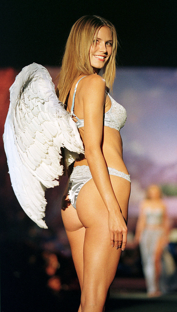 Heidi Klum showed off her wings during a Victoria's Secret show in February 1999.