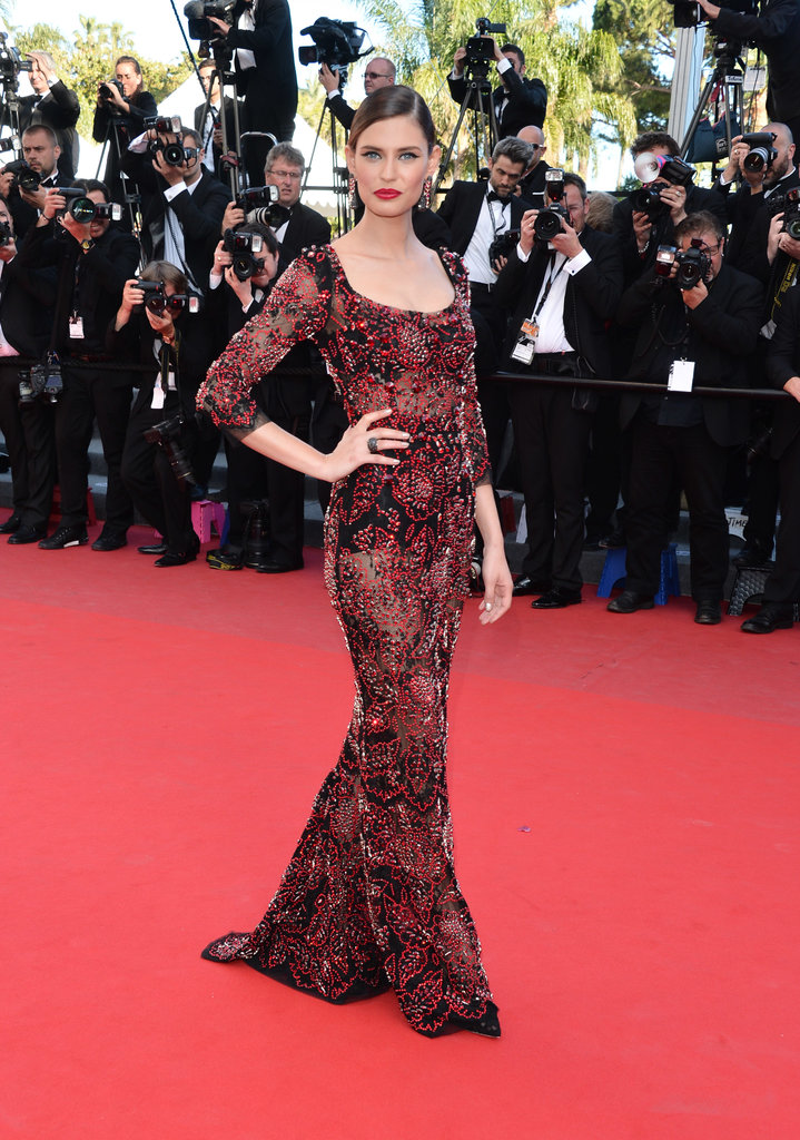 Bianca Balti at the Cannes premiere of La Venus a la Fourrure.