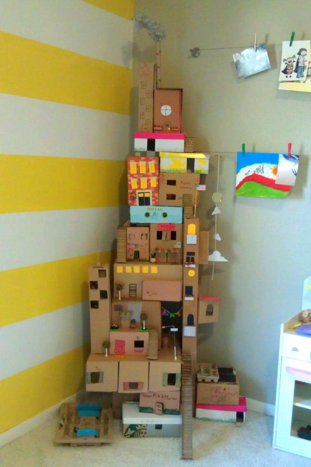 Cardboard Box House 250 Easy Fun Ways To Get Crafty