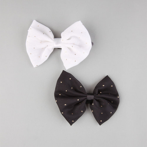 FULL TILT 2 Piece Speckled Bow Hair Clips