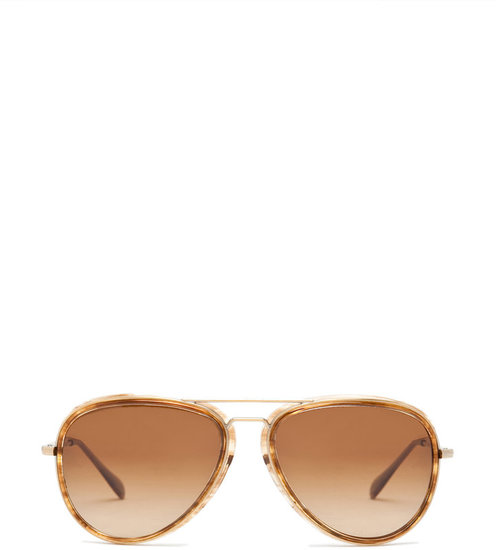 Oliver Peoples Rayford in Antique Gold/Cedar Tortoise/Brown Polarized