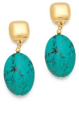 These bold Kenneth Jay Lane turquoise bead drop earrings ($36) would be the only accessory you need to dress up a Summer LBD.
