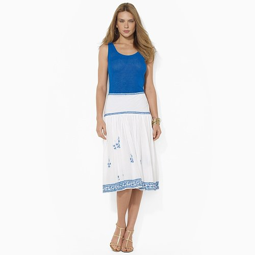 Ralph Lauren Embroidered Cotton Skirt