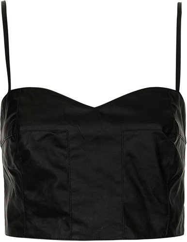 Strapped Leather-look Bralet