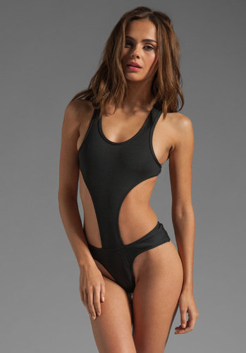 MINIMALE ANIMALE Vice One Piece in Black Sun with Black Sun Rib