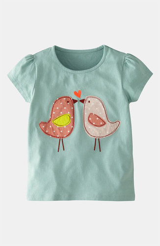 Mini Boden 'Patchwork' Applique Tee (Toddler, Little Girls & Big Girls)