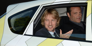 Vince and Owen Pull Up to The Internship Premiere in Style
