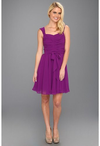 Ivy & Blu Maggy Boutique - Ruched Bodice Dress With Sash (Deep Violet) - Apparel