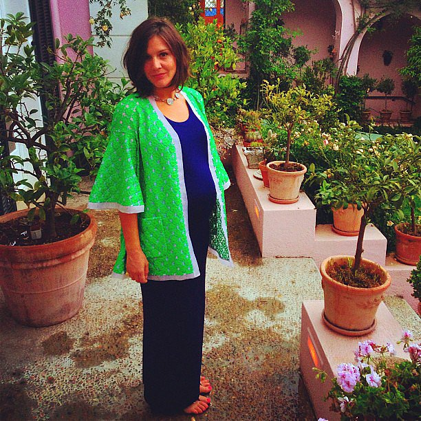 Margherita Missoni looked adorable while showing off her growing baby bump in coloruful separates. Source: Instagram user mmmargherita