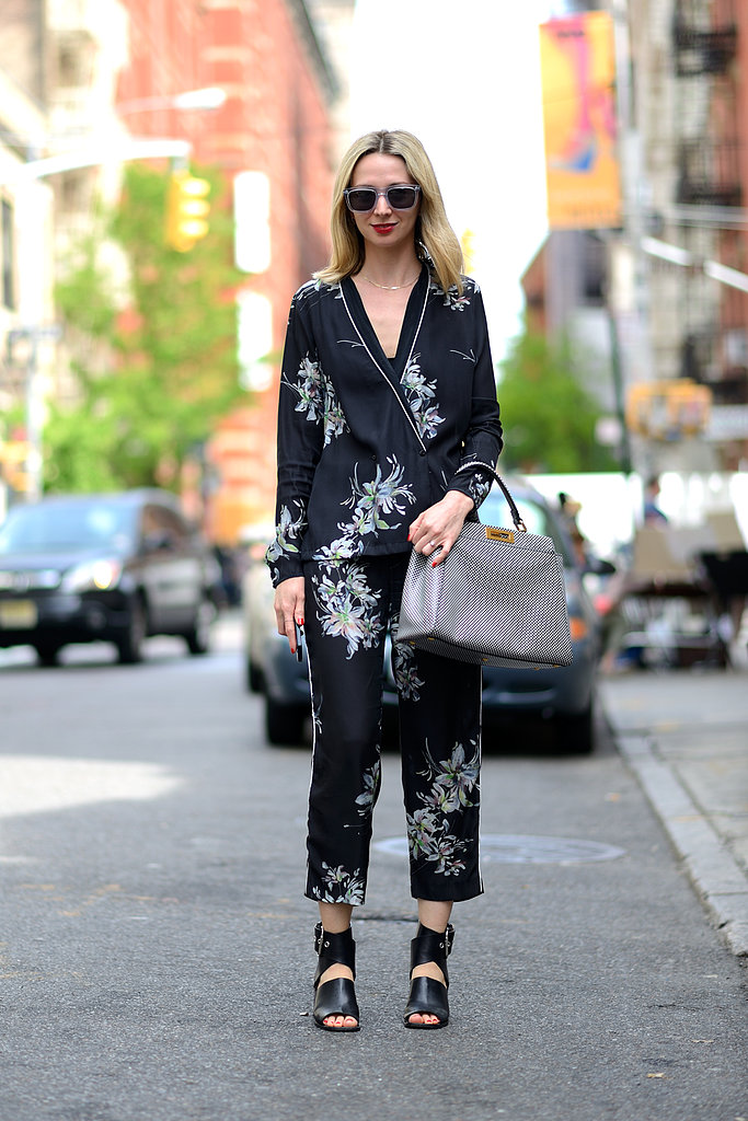 The new Summer suit — it's all about a bold print and easy silhouette — plus a pair of glamorous shades to finish it all off. Source: Le 21ème | Adam Katz Sinding