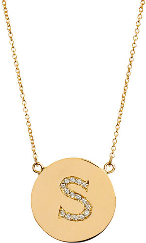 Jennifer Meyer Yellow Gold & Diamond 'S' Pendant Necklace