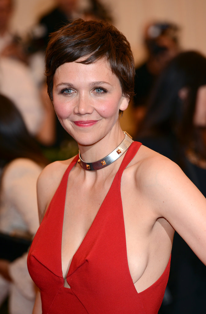 Actress Maggie Gyllenhaal recently took to the pixie cut ... Maggie Gyllenhaal