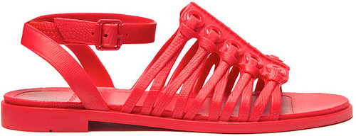 Givenchy Embossed Flat Sandal