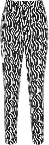 Libby ZEBRA PRINT CAPRI PANTS