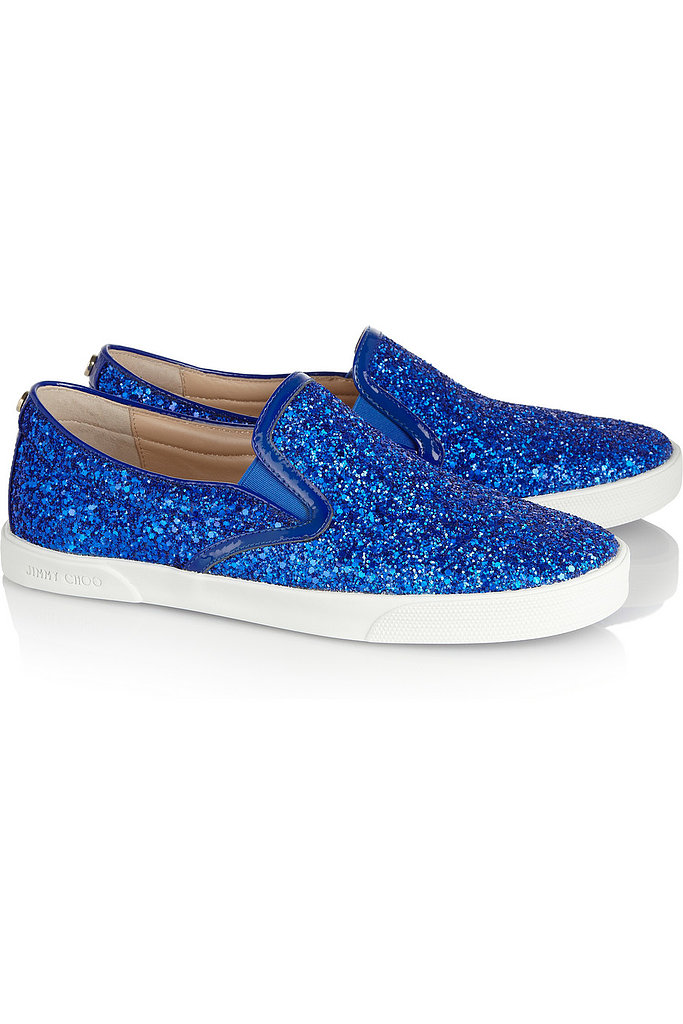 The average sneakers don't stand a chance against this bright blue, glittery pair ($233, originally $465) from Jimmy Choo.