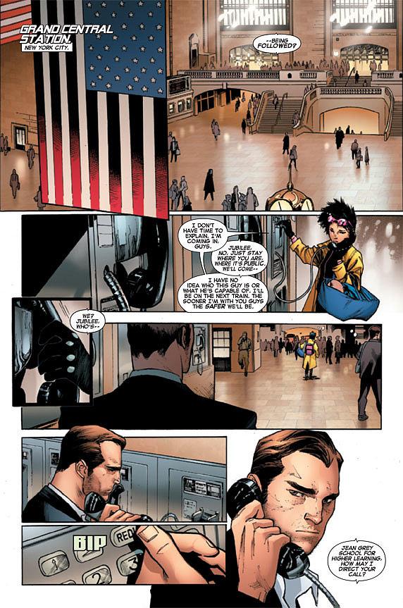 Action ahead in X-Men #1.