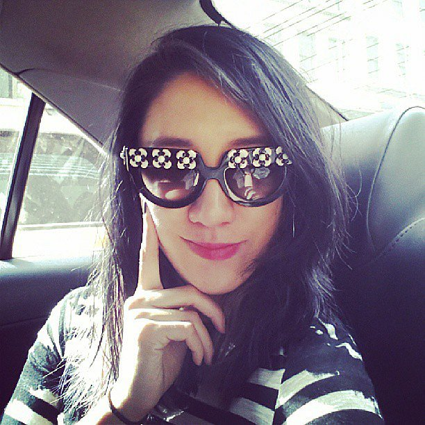 Former Teen Vogue beauty director Eva Chen showed off a killer new pair of Prada shades. Source: Instagram user evachen212
