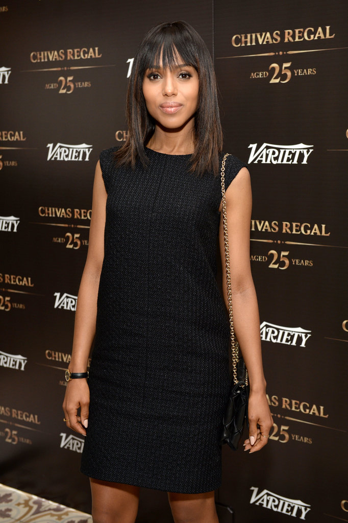 Kerry Washington posed at the step and repeat.