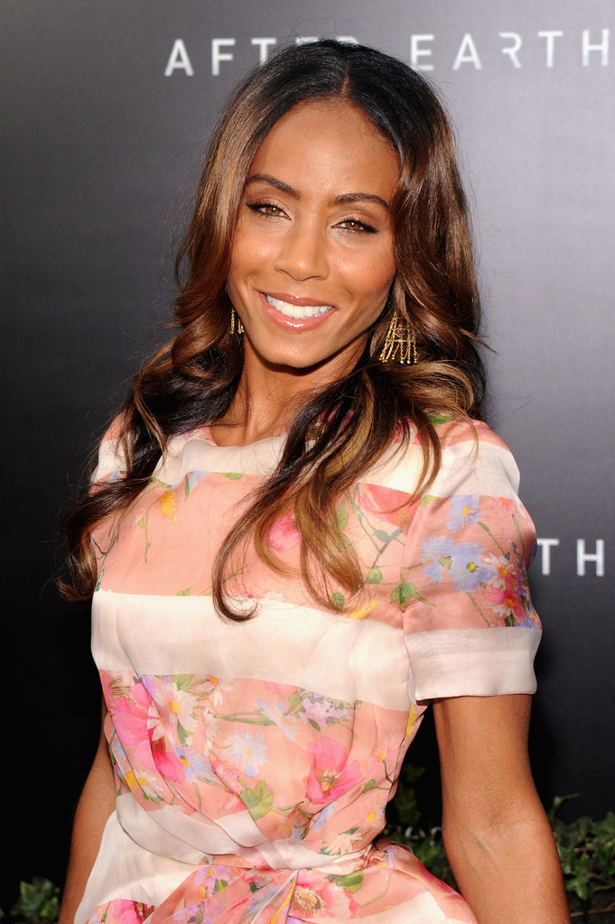 Jada Pinkett Smith was out supporting her boys at the After Earth premiere. She was glowing with minimal makeup in peachy tones and soft waves.