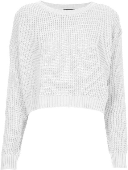 Knitted Textured Crop Jumper
