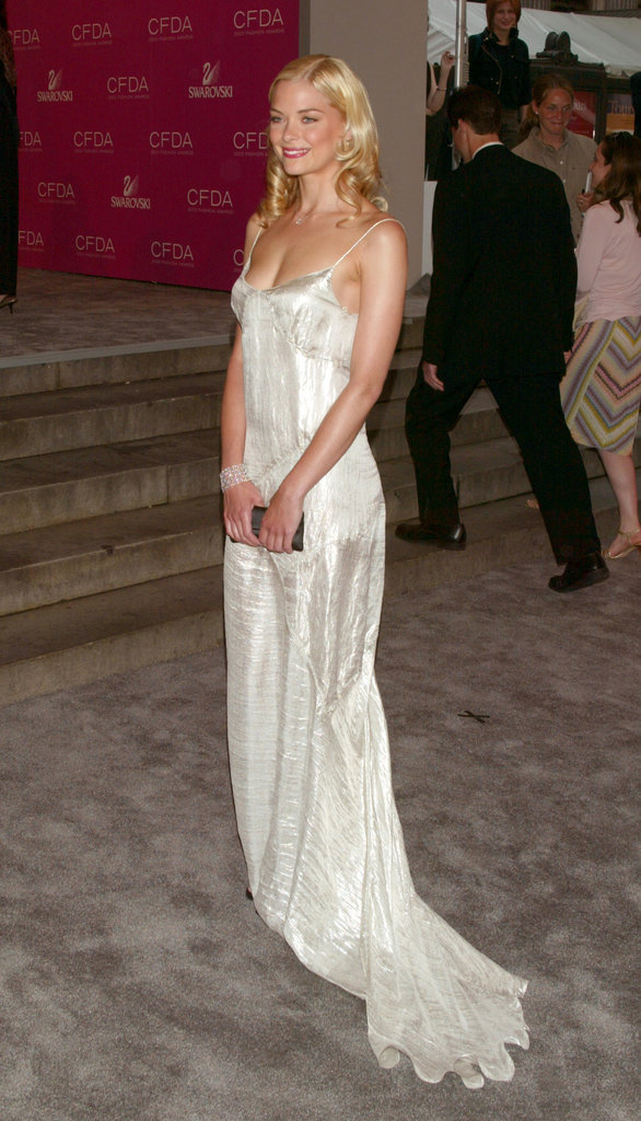 Wearing a simple white floor-sweeper in 2003, Jaime King brought to mind another lithe blonde fashion icon: Carolyn Bessette-Kennedy.
