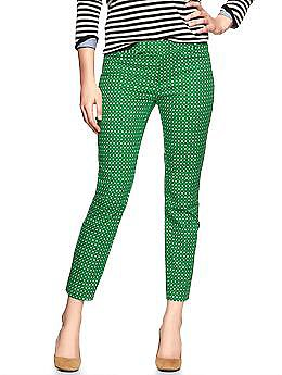 Slim cropped print pants | Gap