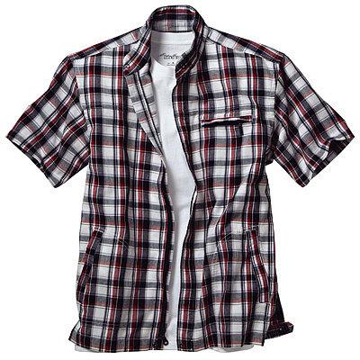 エディー・バウアー 半袖フルジップシャツ(クールマックス(R)ファブリック製)
