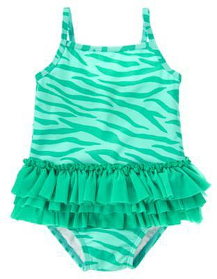 Zebra Print Tutu Swimsuit