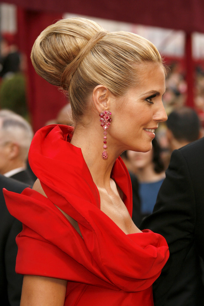 This updo is one for the record books. Heidi's hair at the 2008 Oscars was larger than life with many pieces of hair wrapped around an enormous bun.