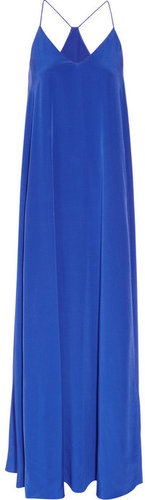 J.Crew Minuit silk crepe de chine maxi dress
