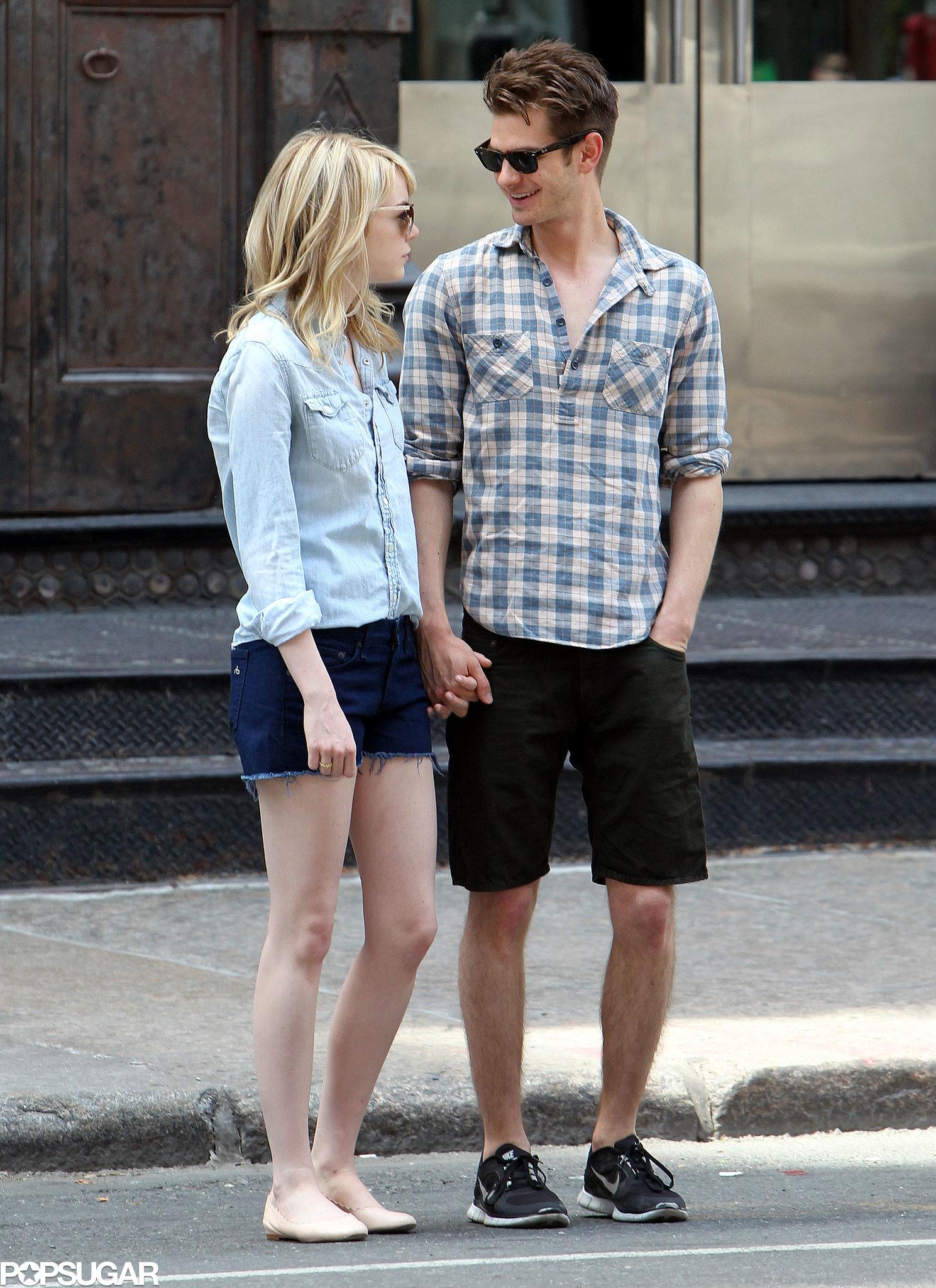 Andrew Garfield kept his eyes on Emma Stone.