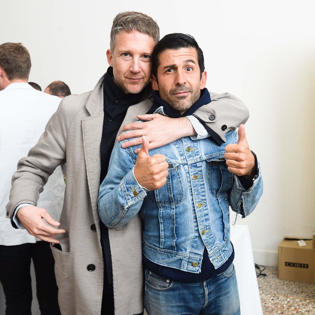 Jefferson Hack and André Saraiva at a Purple magazine dinner in Venice, Italy.  Source: Joe Schildhorn/BFAnyc.com