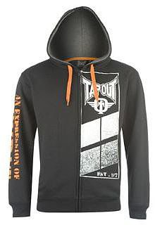 Tapout Expression Front Zip Hoody Mens - Black