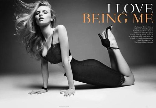 "Eva Downey Shoots 'I Love Being Me' Ad Campaign for ""Black"""