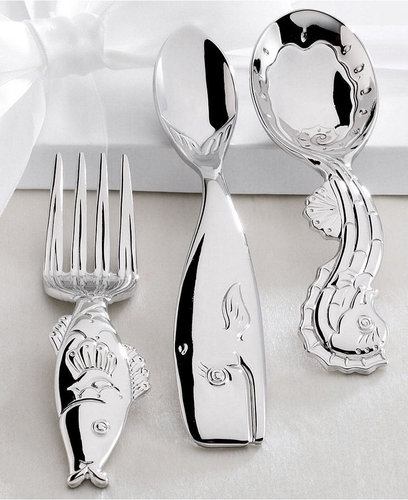 Reed & Barton Flatware, SeaTails 3 Piece Baby Flatware Set