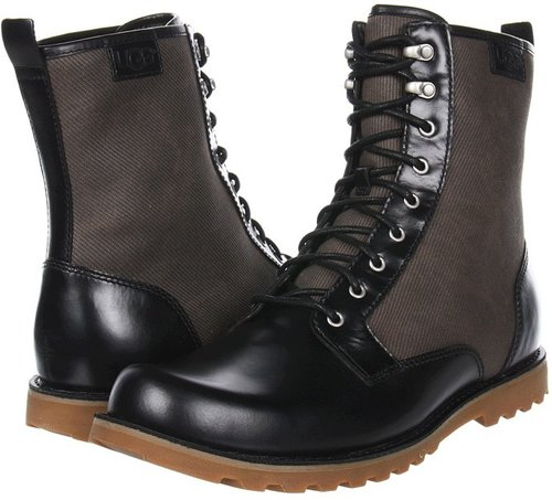 UGG - Montgomry (Black Leather) - Footwear