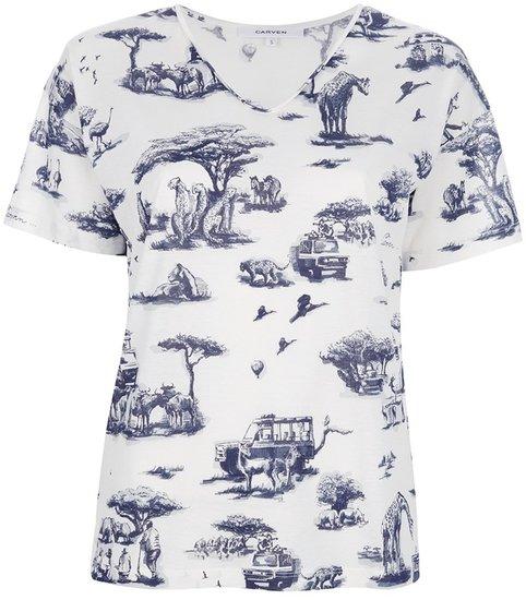 Carven jungle print t-shirt