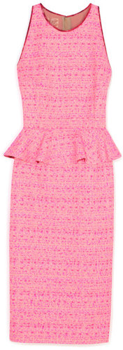Giambattista Valli Bright Pink Peplum Dress