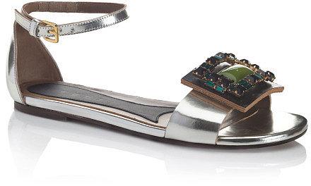 Marni Bejeweled Mary Jane Sandal